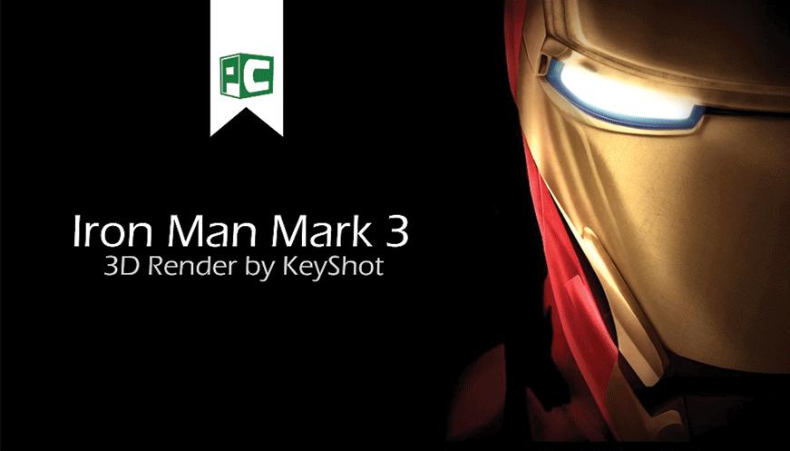 Iron Man Mark 3 (3D Render by KeyShot)